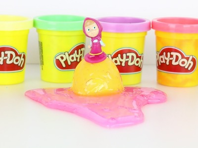 PLAY DOH make DIY giant egg surprise and learning numbers