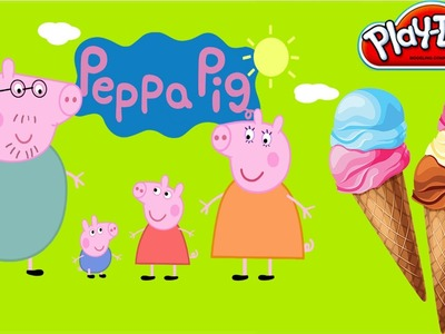 Play Doh Peppa Pig - Diy Ice Cream New Exotic Uncanny Shape play dough & Peppa Pig toys