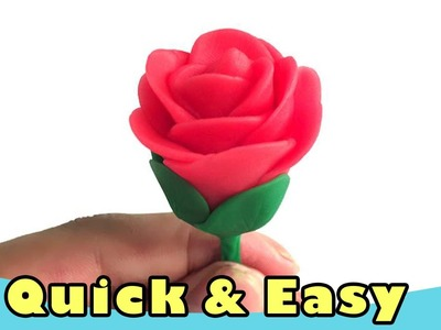 Quick And Easy To Make A Rose Clay Flower (Tutorial for Kids and Beginer)