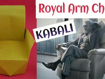 "Rajnikant's KABALI ""Royal Arm Chair"" - Origami Tutorial"