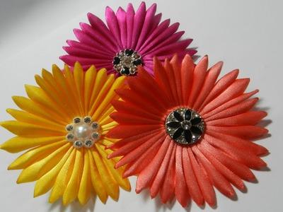 Ribbon Daisy flower tutorial