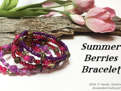 Summer Berries Bracelet-Jewelry Tutorial