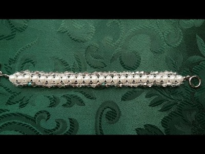 Swarovski and pearls bracelet . How to make a nice bracelet. DIY in less than 10 minutes