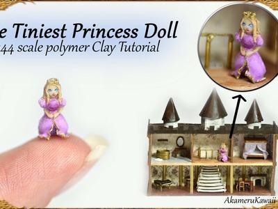 Tiny Princess Dollhouse Doll - 1:144 scale Doll Polymer Clay Tutorial