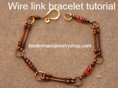 Wire and beads link bracelet tutorial