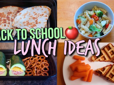 Back to School Lunch Ideas! Healthy and Yummy DIY Lunches!