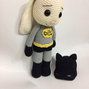 Bat Hero Bunny /Batman amigurumi / Bunny / Rabbit