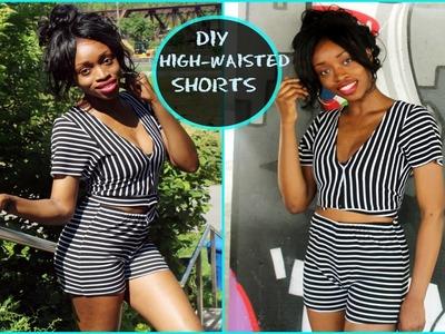 DIY High-waisted Shorts Tutorial (easy.beginner)