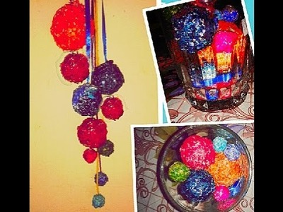 DIY , home decor out of waste. Recycle old and useless aluminium foil into wall hanging