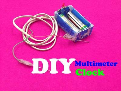 DIY multimeter clock a simple - Tutorial