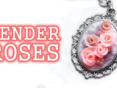 DIY Tender Roses Necklace - Polymer clay tutorial