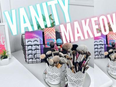 DIY VANITY MAKEOVER! Easy + Affordable! ♡ Tobie Jean