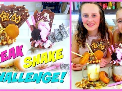 Freakshake Challenge! Extreme DIY Milkshakes - Amp Your Shake!