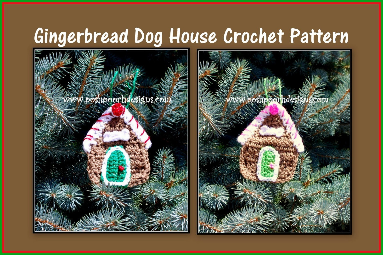 Gingerbread Dog House Crochet Pattern