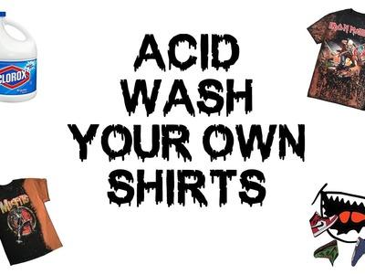 How to Acid Wash Shirts Using Bleach