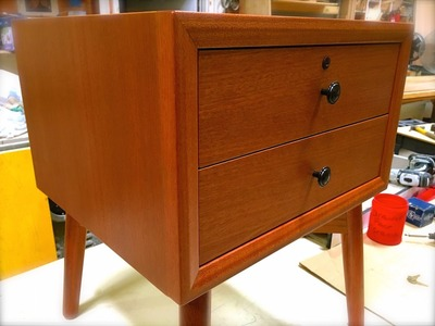 How To Build Mid-Century Modern Furniture Final Cut - Mahogany Night Table