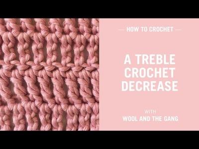 How to crochet a treble crochet decrease
