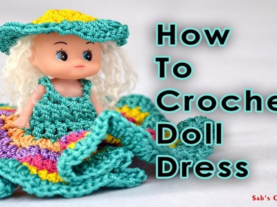 How To Crochet Doll Dress Part  2