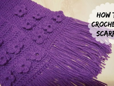 How to crochet flower stitch scarf? Part - 2 | !Crochet!