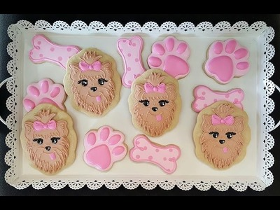 How to decorate puppy themed sugar cookies