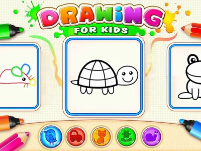 How to draw animals for kids & toddlers Educational Brain Games