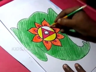 How to Draw Lord Ganesha. Vinayaka Color Drawing for Kids Step by step