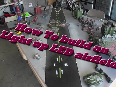 HOW to make a Lighted LED Runway board