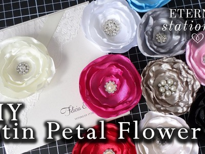 How to make a satin material flower | DIY invitations