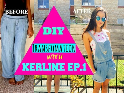 How to make an Overall out of a Trouser I DIY Transformation with Kerline Ep.1