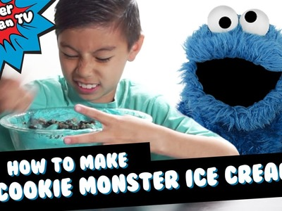 How to make Cookie Monster Ice Cream!!!