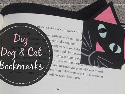How To Make Dog & Cat Bookmarks. Back to School 2016