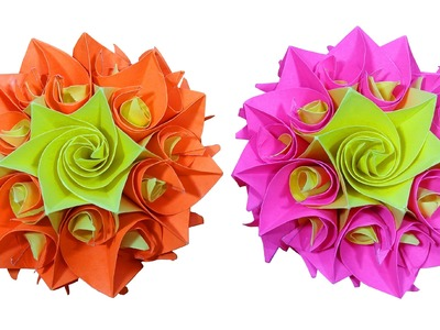 How to make Paper flower  (DIY Crafts) - HD