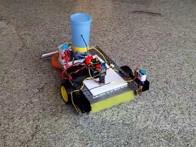 How to make powerful floor cleaner robot at home - homemade floor cleaner robot