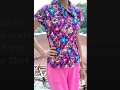 How to Make Skirt Blouse.Mega Sleeves Shirt with Collar - drafting.Easy DIY tutorial for anyone