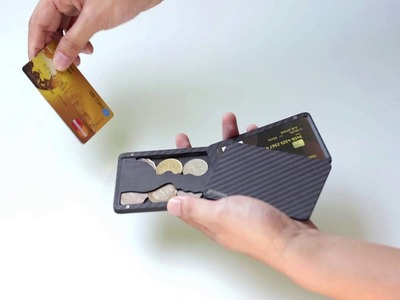 How to put coins in the PITAKA cardholder
