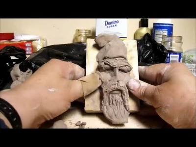 How To Sculpt A Wizard In Polymer Clay or Self Dry