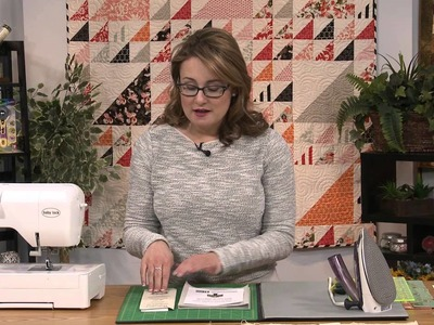 My First Quilt - Episode 30 Preview - How to Use Half-Square Triangle Paper