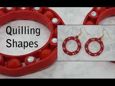 Orecchini e mezzi cristalli - Earrings and fire polish beads - Quilling tutorial
