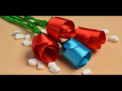 Pandahall Tutorial on How to Make Simple Red Ribbon Rose at Home