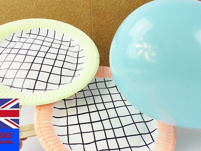 Paper plates Tennis | be bored no more with this awesome game! | Kids games