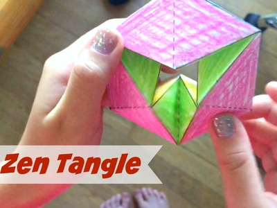 Tutorial: Easy and Fun 3D ZenTangle || DIY Origami Paper Sculpture