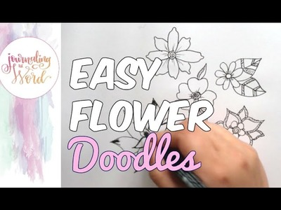 Bible Journaling Tutorial - how to draw flowers
