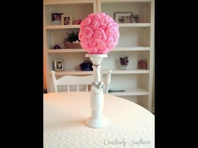 DIY Crepe Paper Flowers - Handmade Decoration .