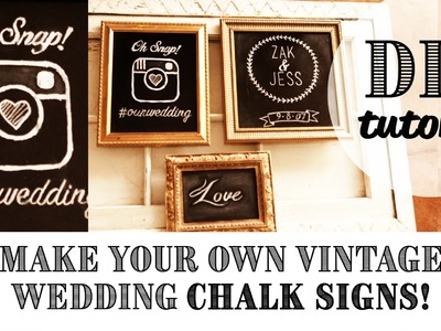 DIY EASY Vintage Chalk Frame || Dream Wedding Ideas || Wedding Decor