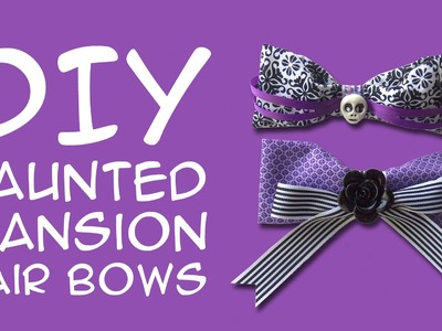 DIY Haunted Mansion Disney DIY – Haunted Mansion Hair Bows: Crafty McFangirl Tutorial