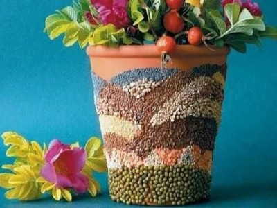 DIY How to Decorate a Flower Pot