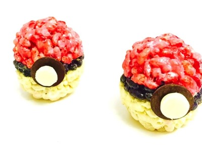 DIY HOW TO MAKE EDIBLE POKEMON GO POKEBALL RICE KRISPIES