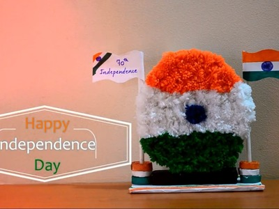 DIY - Independence day craft for kids using Pom pom ||Creative Indian Arts|| #4