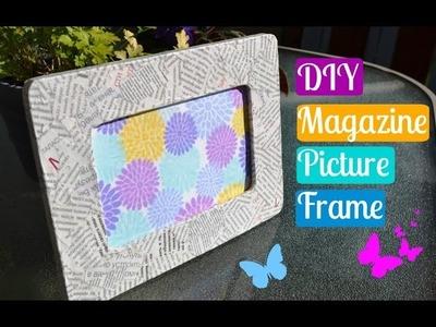DIY Magazine Picture Frame | P.G.P Crafts