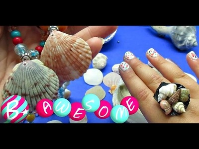 DIY Seashell Necklaces and Rings!